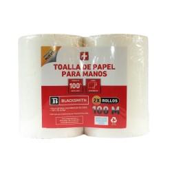 PACK 2 TOALLAS DE PAPEL PARA MANOS 100M BLACKSMITH
