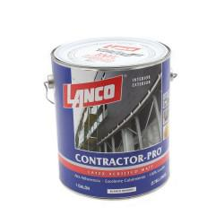 LATEX ACRILICO MATE CONTRACTOR PRO BLANCO INVIERNO 1 GL