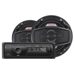 RADIO + 2 PARLANTES AIWA CAW 8016BT