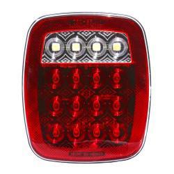 FOCO TRASERO LED STOP/REVERSA 12 Y 24 VOLTS