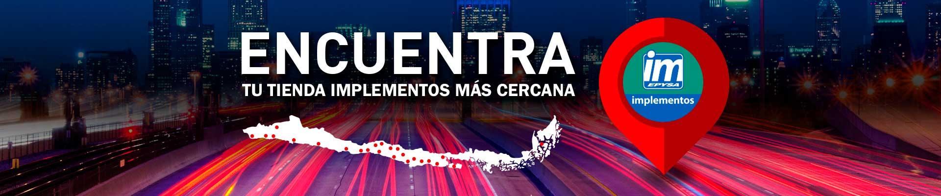 Mapa Tiendas Chile - Epysa Implementos S.A.